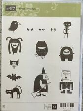 """""""FREAKY FRIENDS"""" Stampin'UP! NEW~rubber/CLING unmounted-HALLOWEEN~set/13 monster"""