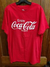 Junk Food Enjoy Coca Cola 100% Cotton Graphic Tee - Red - Size L - NEW