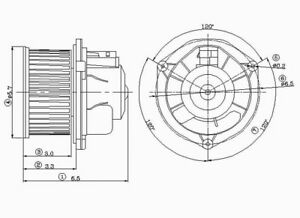 New Blower Motor Without Wheel   Global Parts Distributors   2311261