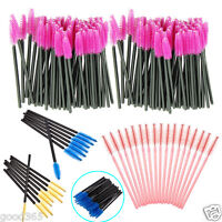 100pcs Disposable Mini Eyelash Eye Lash Makeup Brush Mascara Wands Applicator US