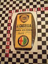 ALFA ROMEO rivenditore adesivo di vetro-Junior Giulietta Ragno Lancia Fulvia GTV GTA