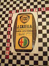 Alfa Romeo Dealer Glass Sticker - Junior Giulietta Spider Lancia Fulvia GTV GTA