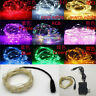 12V LED String Mains Plug In Copper Wire Fairy Lights Xmas Party + Power Adapter