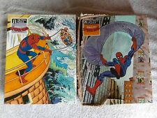 Vtg Spider-man Puzzle Lot 2 Complete 100 Pce Golden Marvel 1980s Kids Spiderman