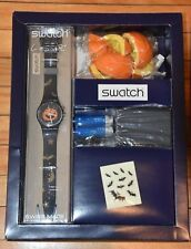 Vintage 1998 Swatch Halloween Pumpkin Watch GZS30 MIB *Vintage