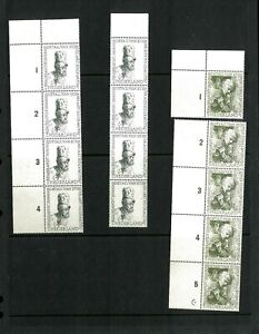 Netherlands #'s B291-295 VF MNH (9 sets). Cat. 191.25