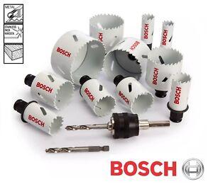 Bosch QUICK CHANGE Release Hole Saw Cutter Bit HSS Bi-Metal Wood Plastic Holesaw