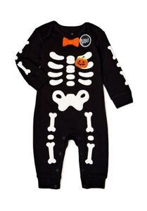 Baby Boys Skeleton Halloween Romper or Pajamas Sizes 6M-9M