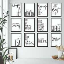 Kitchen Prints Wall Art Picture Funny Quote Minimalist Print Dining Room Posters
