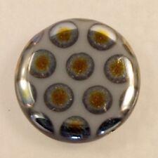 2 perles peacock disque gris avec ronds marée 17 mm