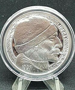 MR. THE 1 oz. PROOF Hobo Nickels Series #1 THE FISHERMAN COA LE Pristine