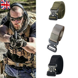 Quick Release Work Belt Tactical Black Men Combat Army Nylon Buckle Waistbelt J