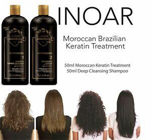 INOAR BRAZILIAN MOROCCAN KERATIN BLOW DRY TREATMENT HAIR STRAIGHTENING 100ML KIT