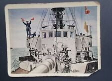 WWI German Cigarette Cards Der Weltkrieg Regie Sport #246 Baltic Sea Ship 1917