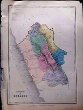 PERÚ,departamento de Ancachs.Paz Soldán.Geografía del Perú 1865.