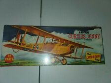 1955 Lingberg 1/48 Scale JN-4D Curtiss Jenny Airplane Model Kit 534:98