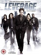 Leverage -Series 5 All Episode 5th Fifth Season Brand New Sealed UK Region 2 DVD