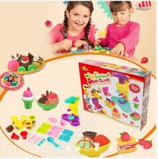 Modeling Dough Ice Cream Twister Playset with Clay and Molds