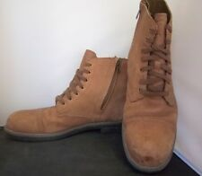 DENIM & SUPPLY - Men's R. Lauren Tan Lace-Up/Side Zipper Boots - SIZE 12D