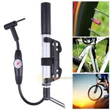 Bicycle Pumps With Gauge High Pressure Hand Mini Pump Hose Air Inflator Portable