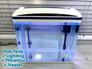 60 Litre Aquarium Glass Fish Tank Full Set Up. Lighting + Pump + Filter + Heater