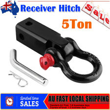 Tow Bar Hitch Receiver Towbar 4WD Off Road Recovery 5Ton Bow Shackle Red AU Fast