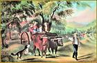 Currier & Ives |  Haying-Time, The First Load  Art Print