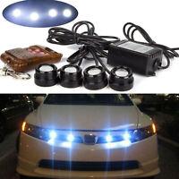 Car 4in1 12V Hawkeye LED Emergency Strobe Lights DRL Wireless Remote Control Kit