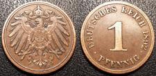 Allemagne - Wilhelm II - 1 reichspfennig 1892 J, Hambourg - KM#10