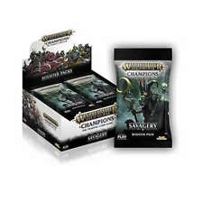 More details for warhammer age of sigmar champions wave 3 savagery sealed booster box 24 packs
