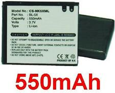 Batería para Nokia 8800, 8801, 8800 Sirocco BL-5X BL5X 550mAh