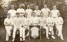 Unidentified Cricket Team with League Shield unused RP pc E Atkinson Wakefield