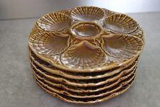 Assiette à huitres SARREGUEMINES Céramique vernissée , french oyster plates