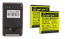 2X QUANTUM 1800mAh  Batteries + Charger for Samsung Galaxy S2 D710 1yr Warranty