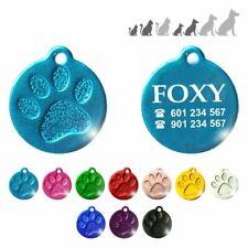 Placa chapa medalla de identificación para collar perro gato mascota animal