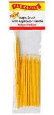 Flex-i-file magic Cepillos con mango Aplicador Amarillo 18 Cepillos medio