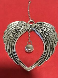 Silver Angel Wings with Angel Bell - Tinkles when Angels are near