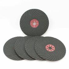 "5 Semi Flexible 230mm / 9"" Silicone Carbide Abrasive Fibre Sanding Discs 60G"
