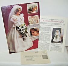 Advertisement for Princess Diana Doll From Danbury Mint early 1980's