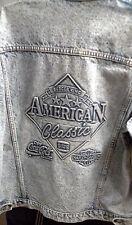EMBOSSED JEANS JACKET Harley Davidson Coca Cola BK American Classic Mens Large