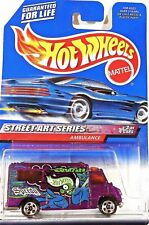 HOT WHEELS  1999 Street Art Series - Purple AMBULANCE - #951 - 5 spoke wheels