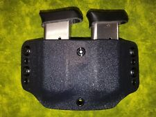 SUPER NICE RED KYDEX DOUBLE MAG HOLSTER TRULY HAND FITTED LOOK