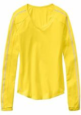 NWT Athleta Running Wild Taped Crew Top Yellow, Extra Large (XL) UNSTINKABLE $69