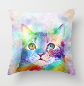 Throw Pillow Case Cushion cover Cat 663 multicolor art L.Dumas