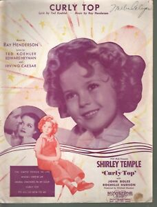Curly Top 1935 Shirley Temple in Curly Top Sheet Music