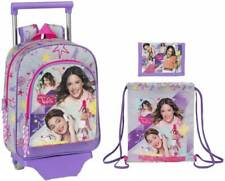 Disney Violetta Maleta Con Ruedas Bolso Para Gimnasio Monedero Carro De Niños