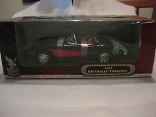 1957 Chevy Corvette In A Black & Red 118 Scale Diecast From Yat ming 2001 dc304