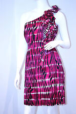 MARC ANDREW New York RUFFLED One Shoulder DRESS 10  FREE SHIPPING