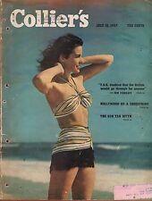 1947 Colliers July 12 - Brooklyn Dodgers; Sun Tan Myth; Okinawa; C B Kelland