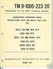 M14 Rifle and M14A1, Unit Maintenance Manual